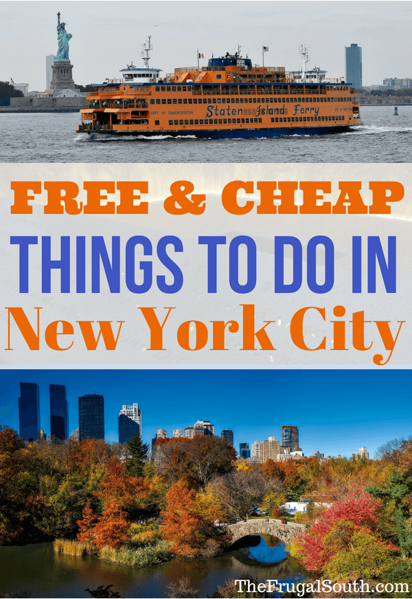 Free and Cheap things to do in New York City Pinterest Image