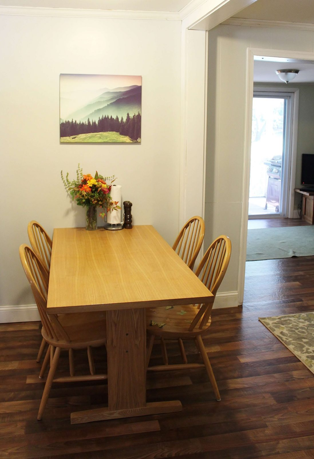 wall mural over dining table