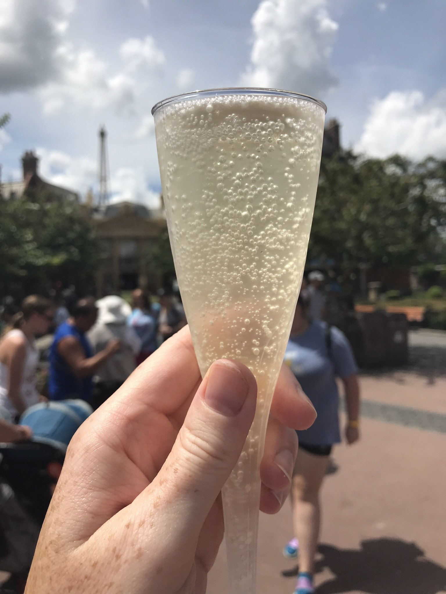 Sparkling Wine at the France Booth