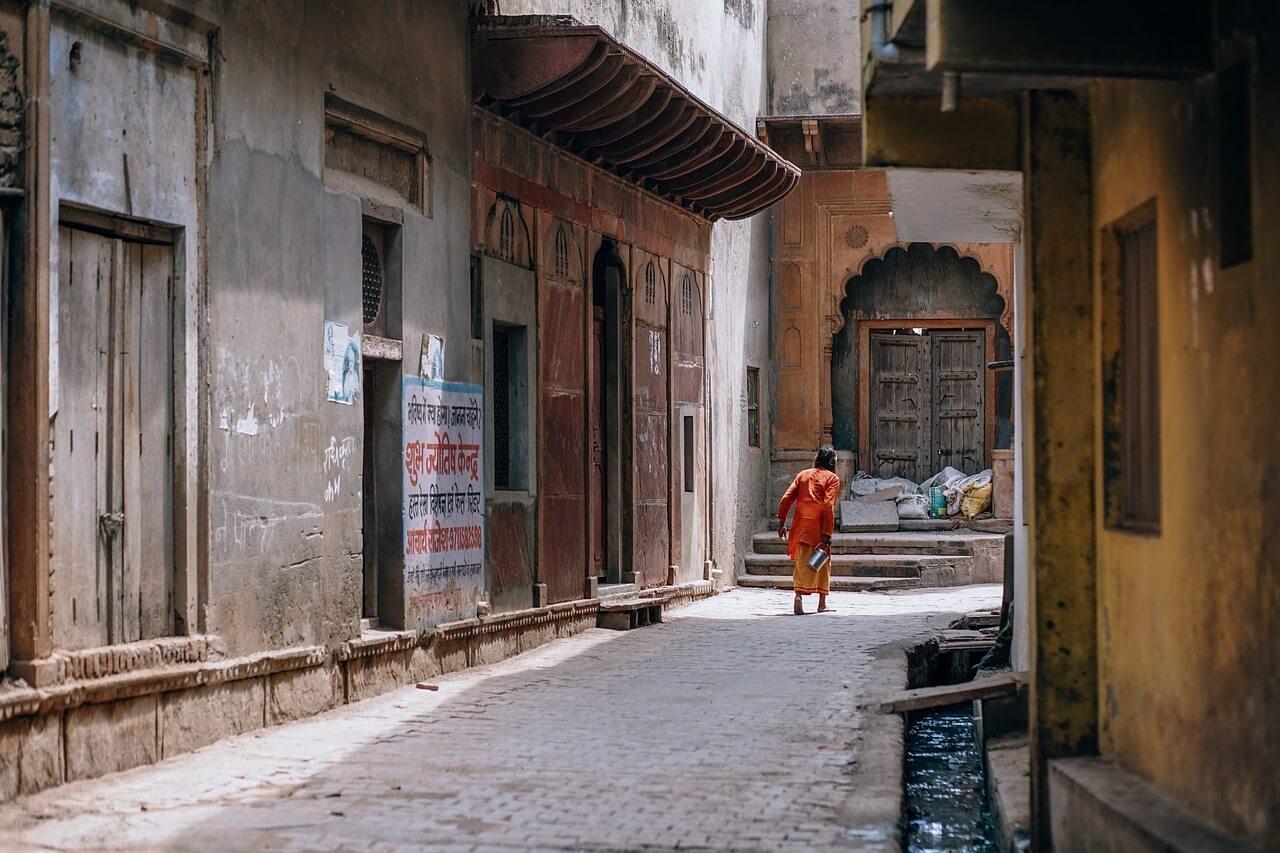 asian city walkway