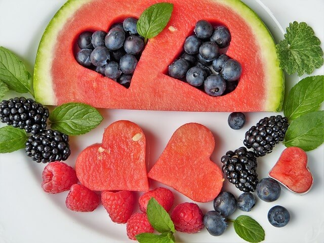 berries and watermelon