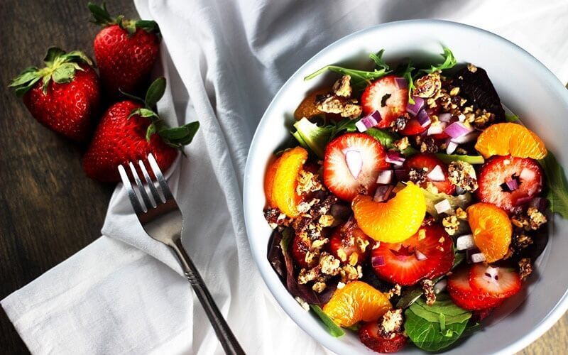 Pecan Strawberry Poppyseed Salad