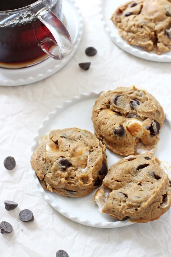 Flourless Peanut Butter S'Mores Cookies