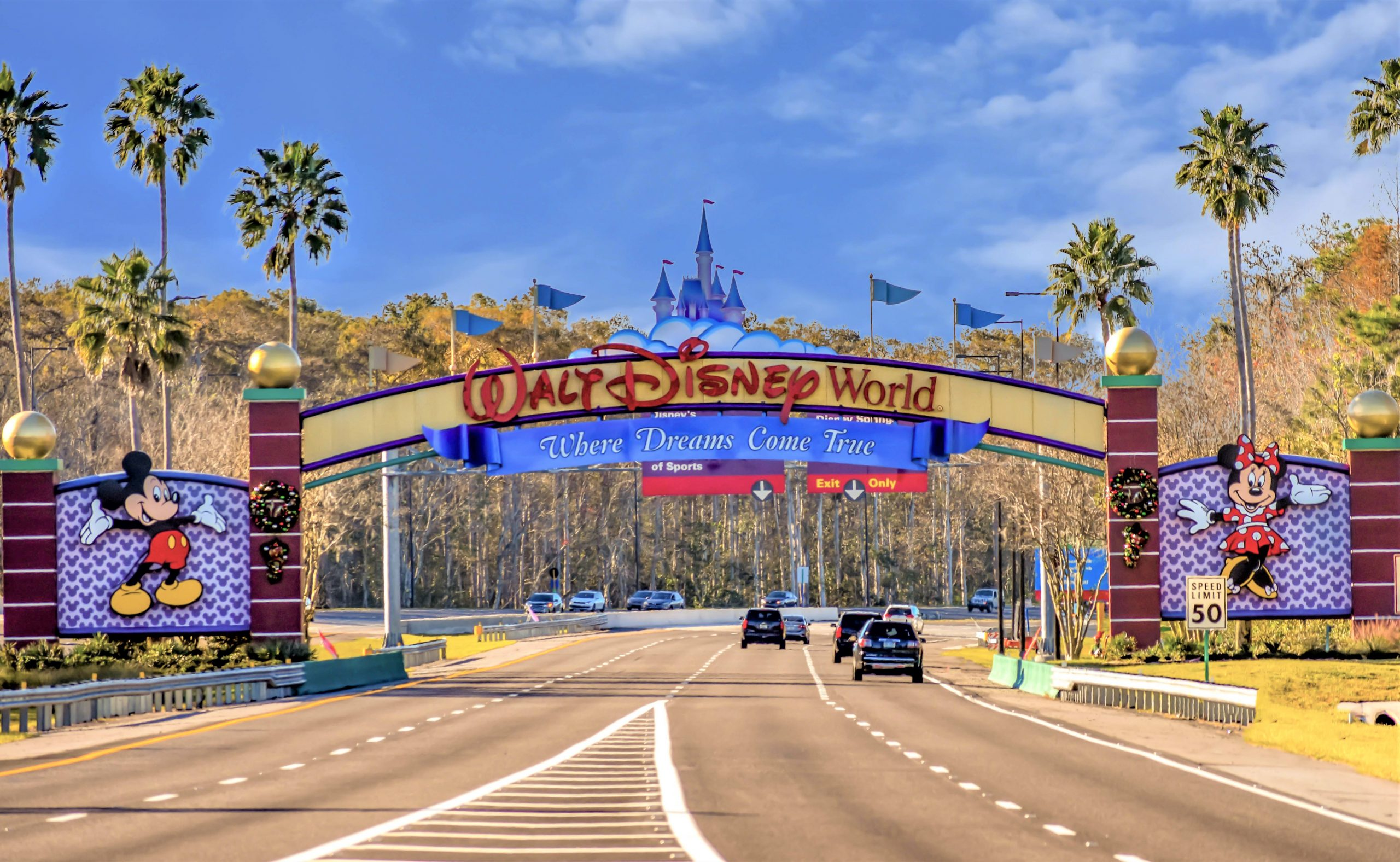 Disney Entrance Sign