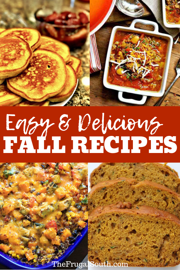 Easy and Delicious Fall Recipes Pinterest Image