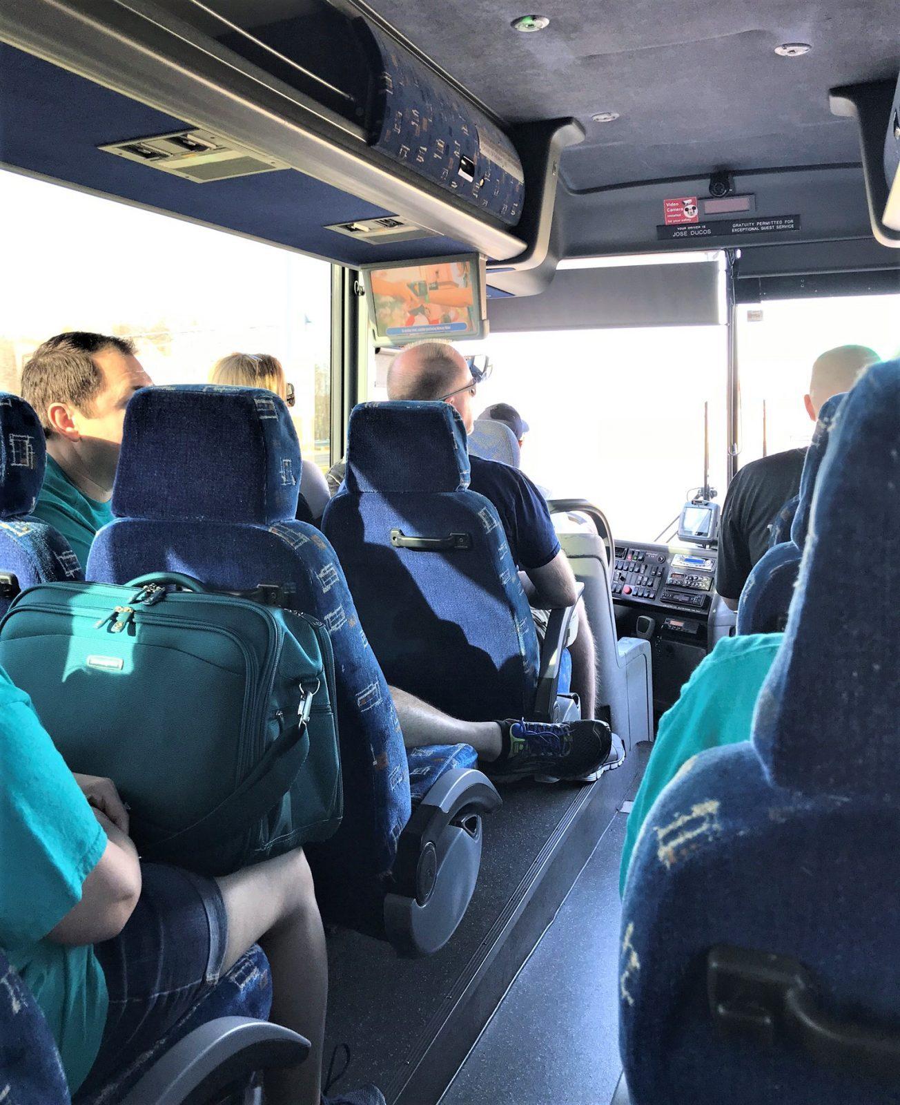 interior of magical express bus