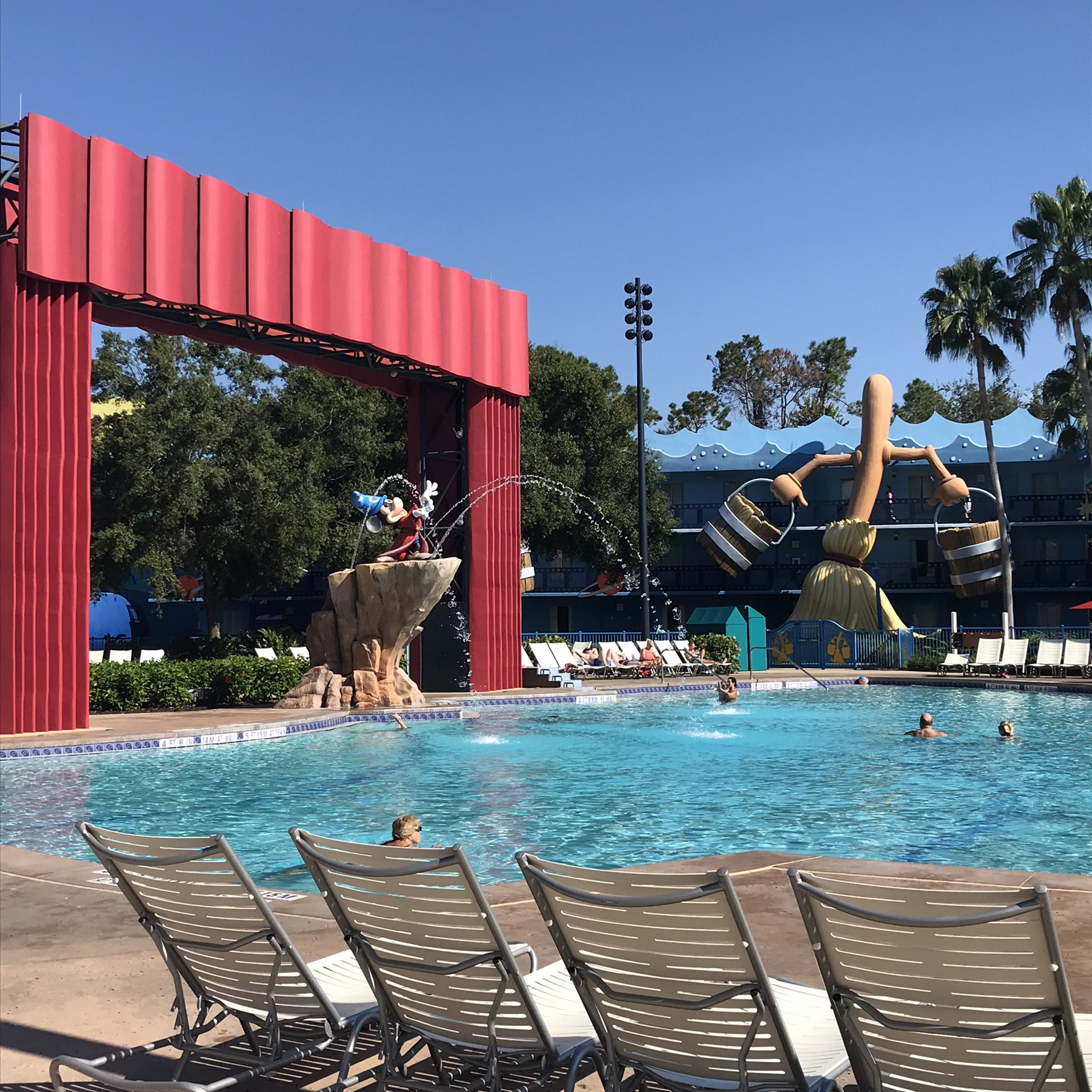 Disney All Star Movies resort Pool with Mickey Mouse fountain