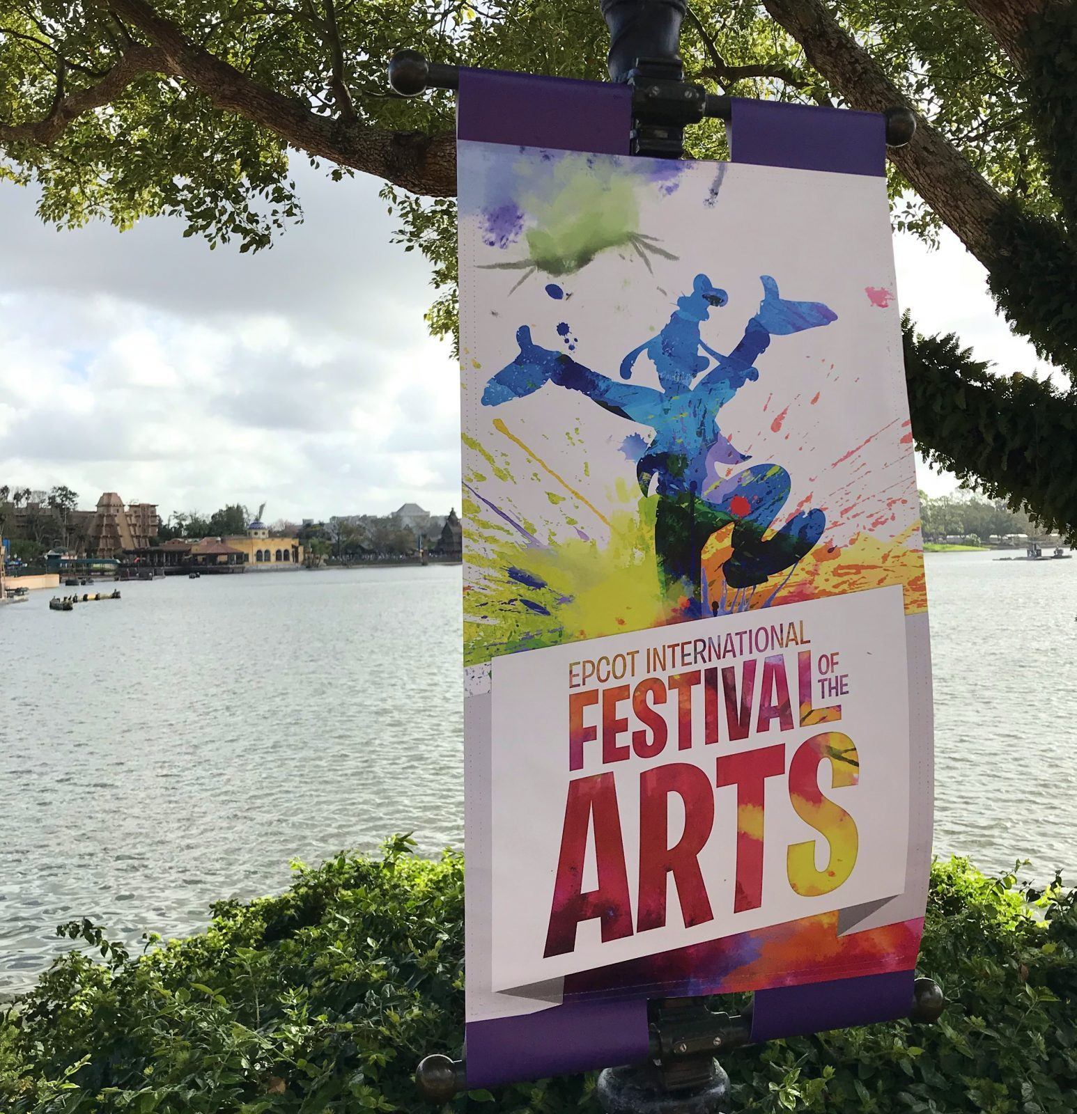 Festival of the Arts sign at Epcot