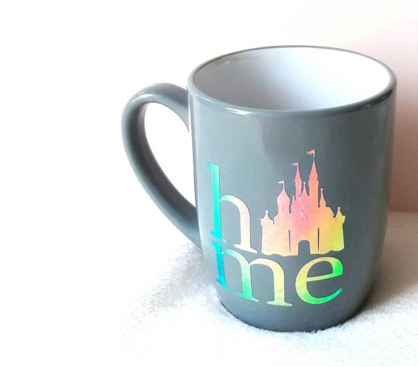 "cinderella's castle ""home"" mug"