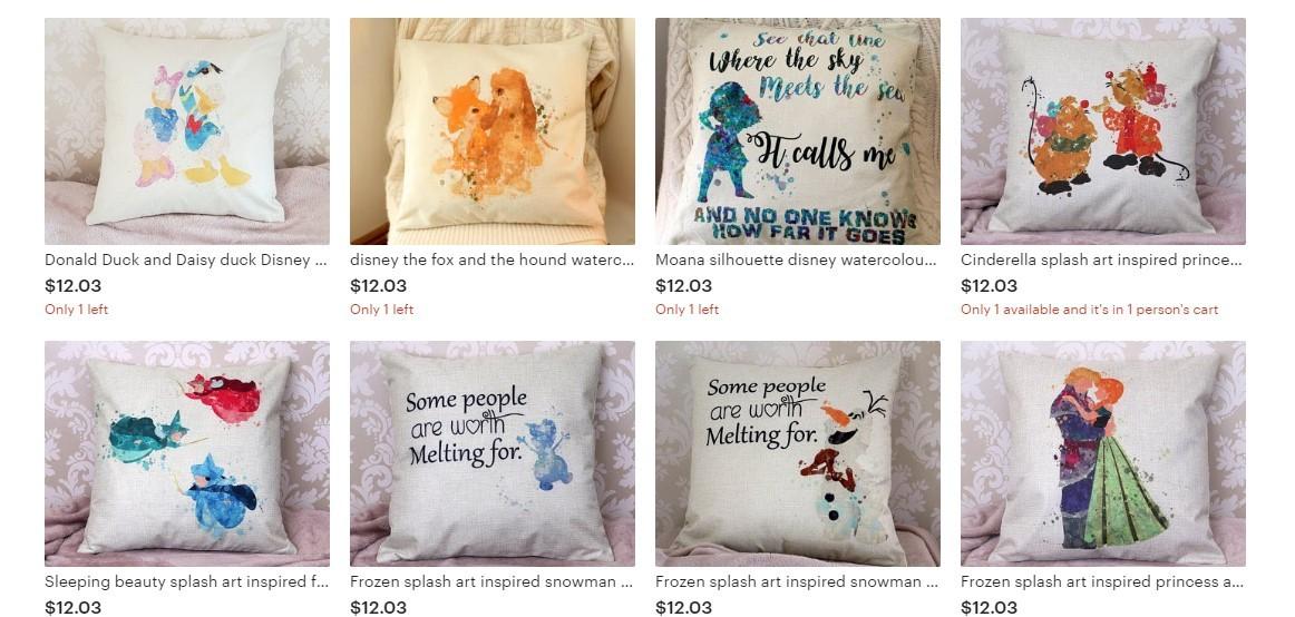 Disney Pillow options online