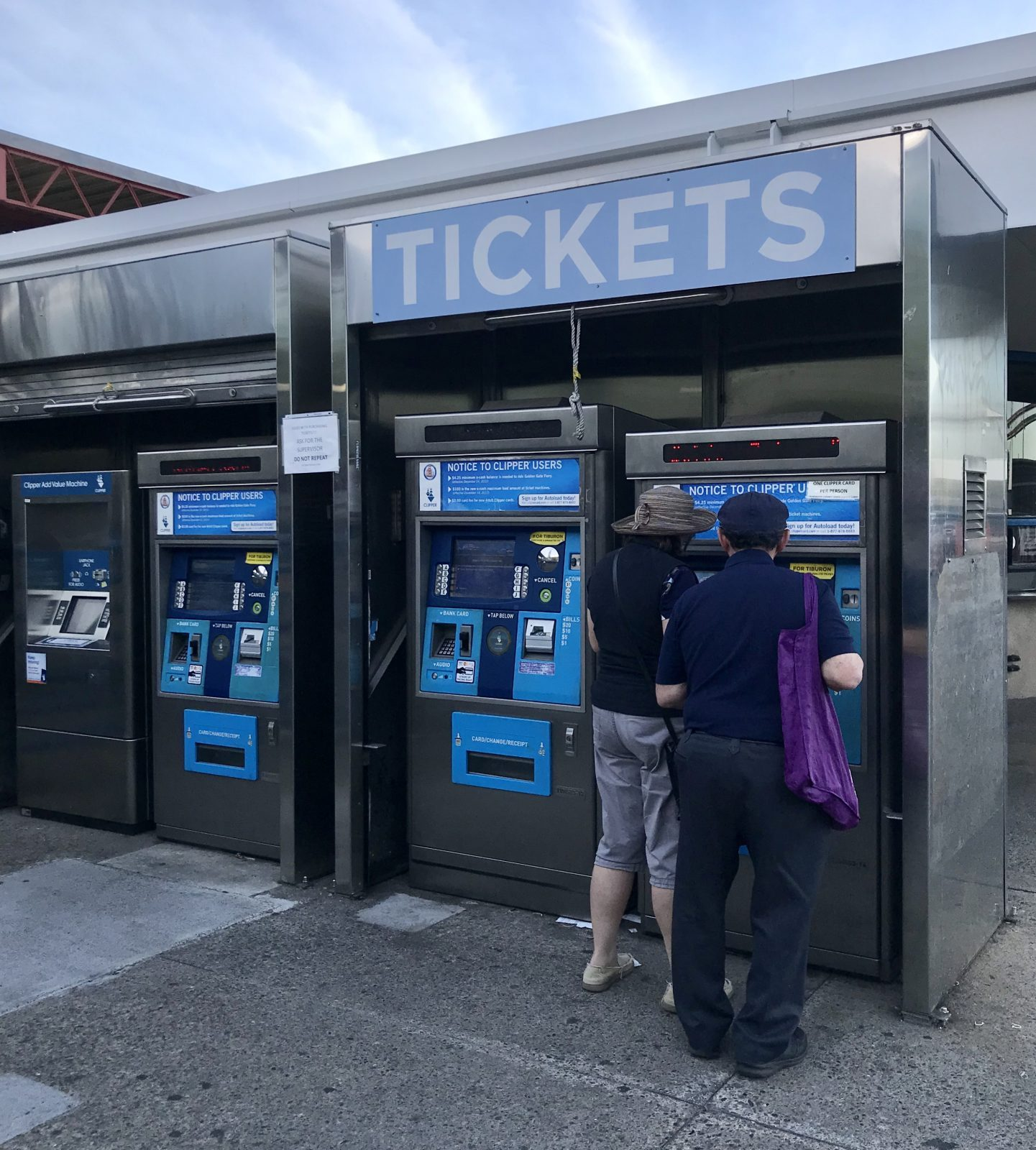 ferry ticket machines