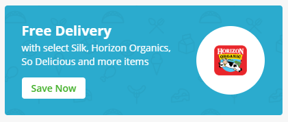 free delivery button on Instacart app