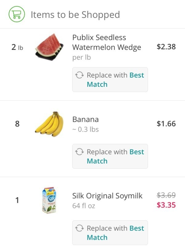instacart grocery items