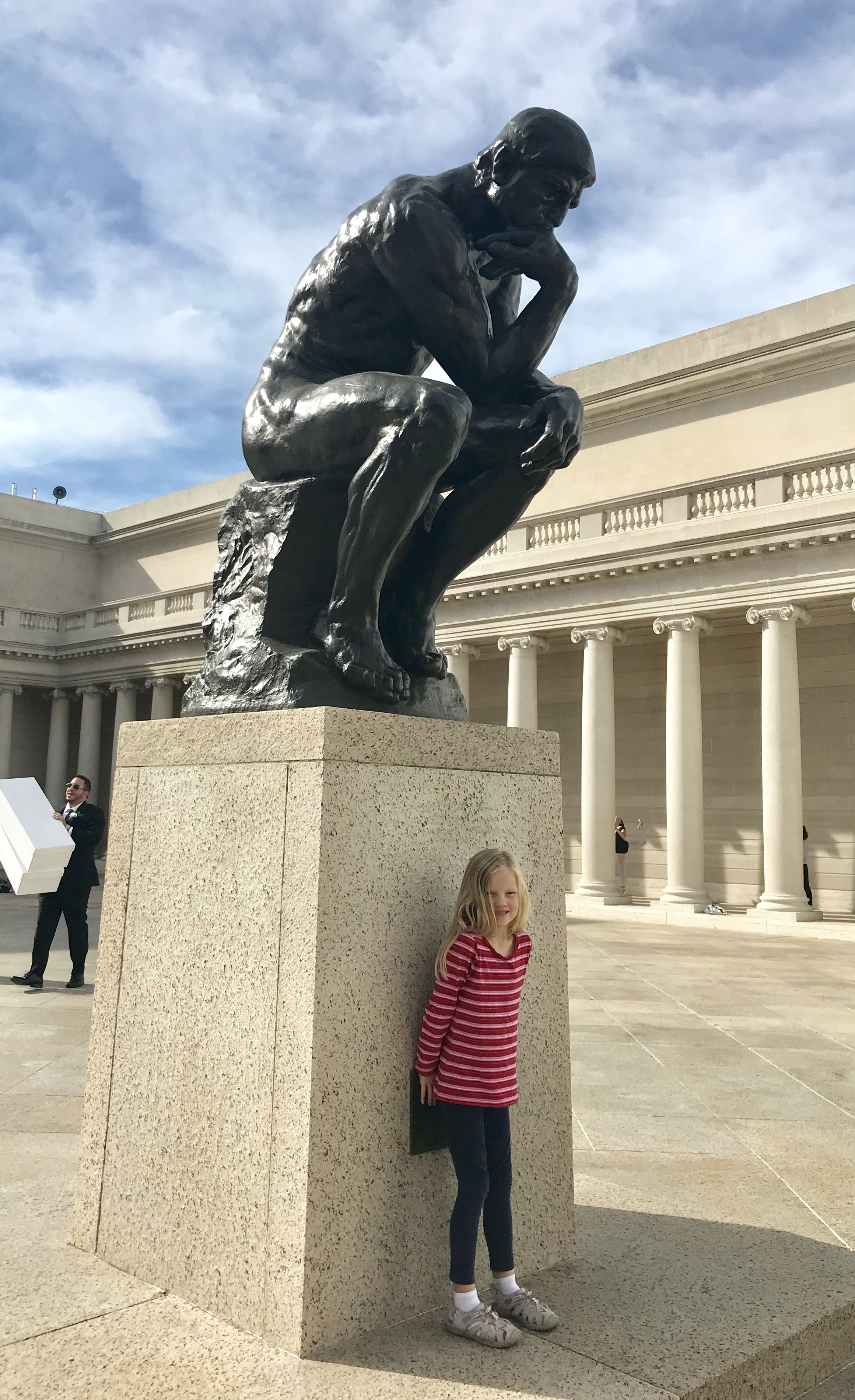 """Rodin's world-famous sculpture """"The Thinker"""" at the Legion of Honor"""