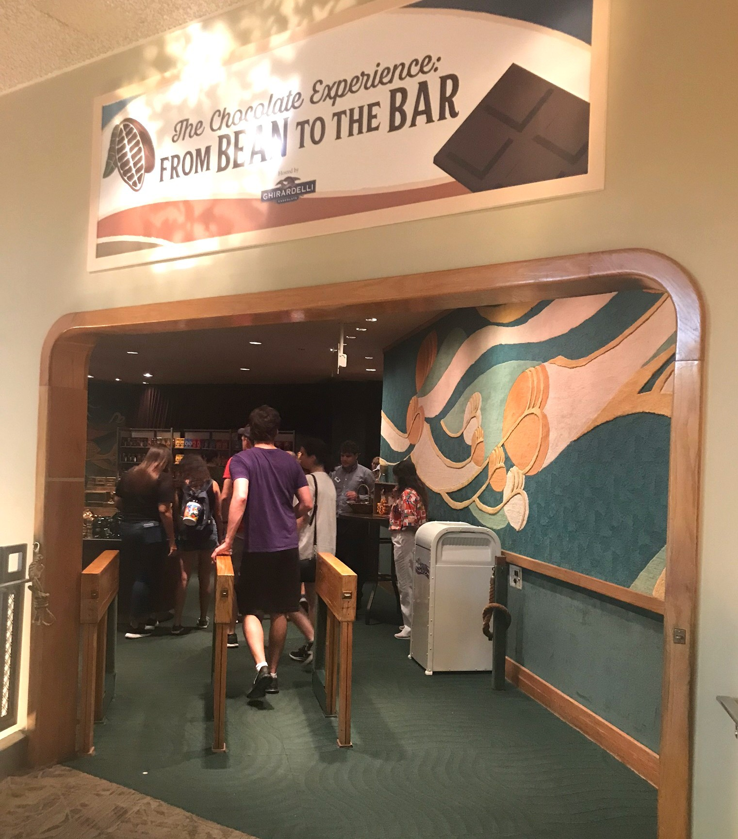The Chocolate Experience queue