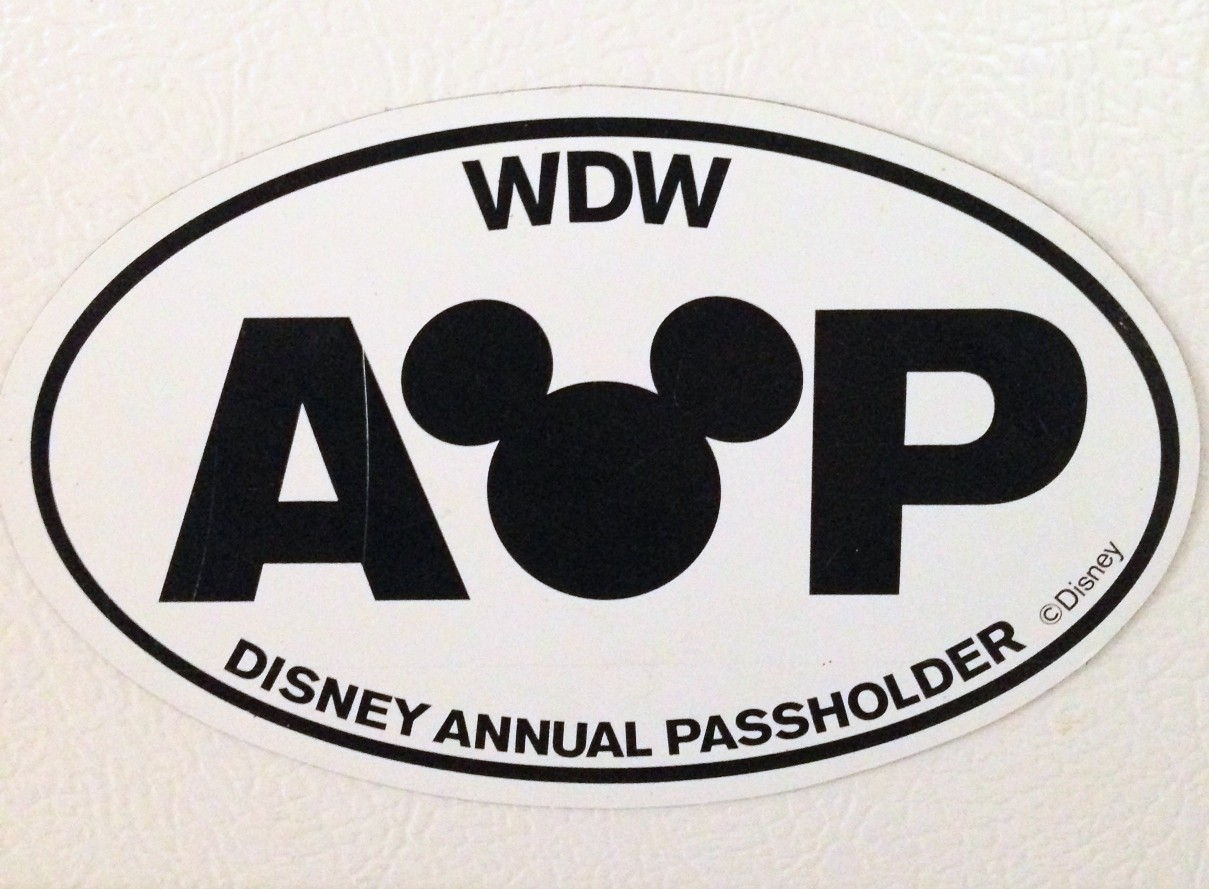 disney annual passholder sticker