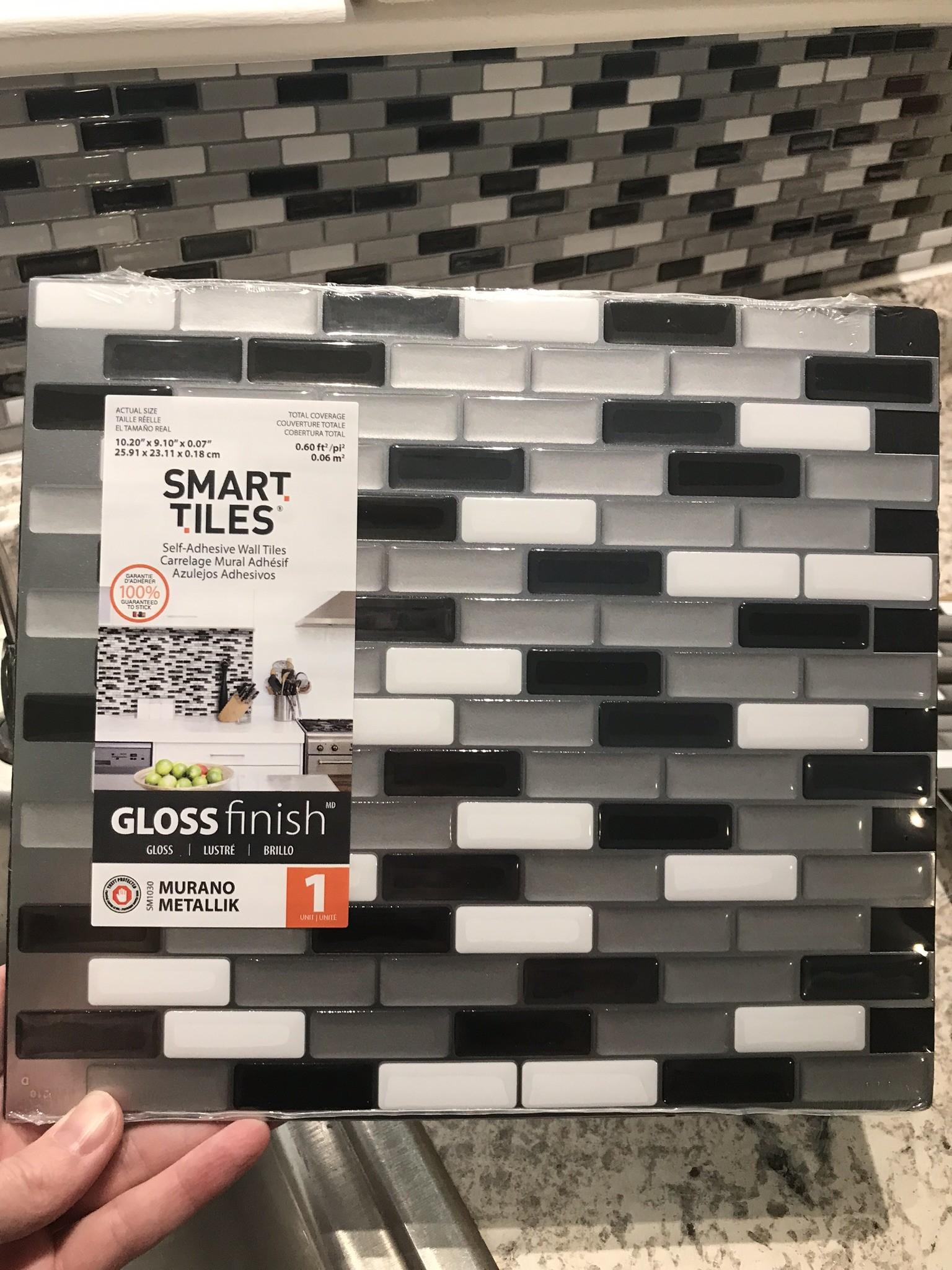 smart tiles murano backsplash peel and stick tiles