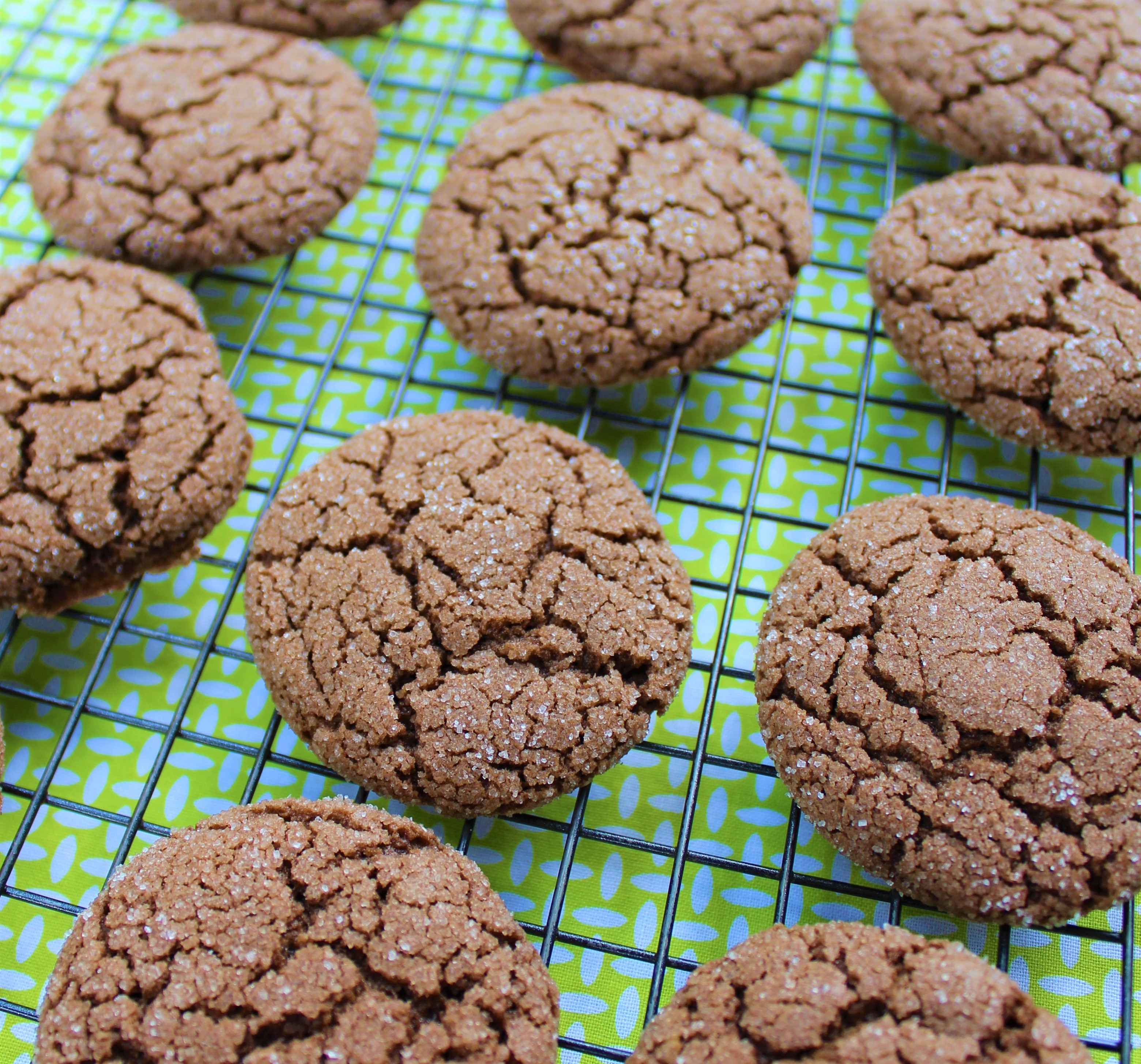 chocolate sugar cookies on a rack