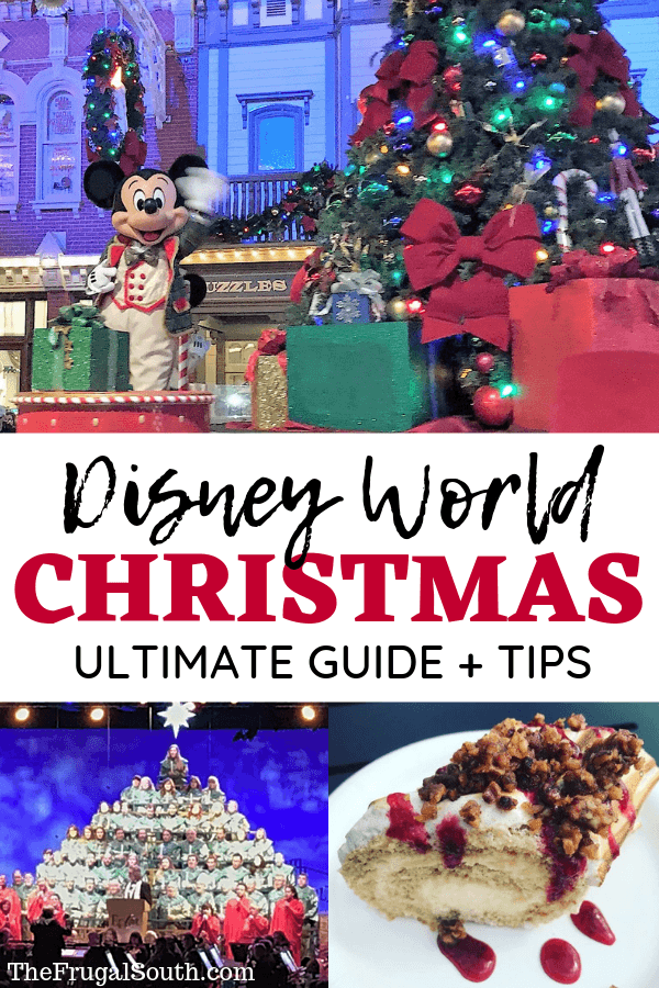 Disney World Christmas Ultimate Guide and Tips Pinterest Image