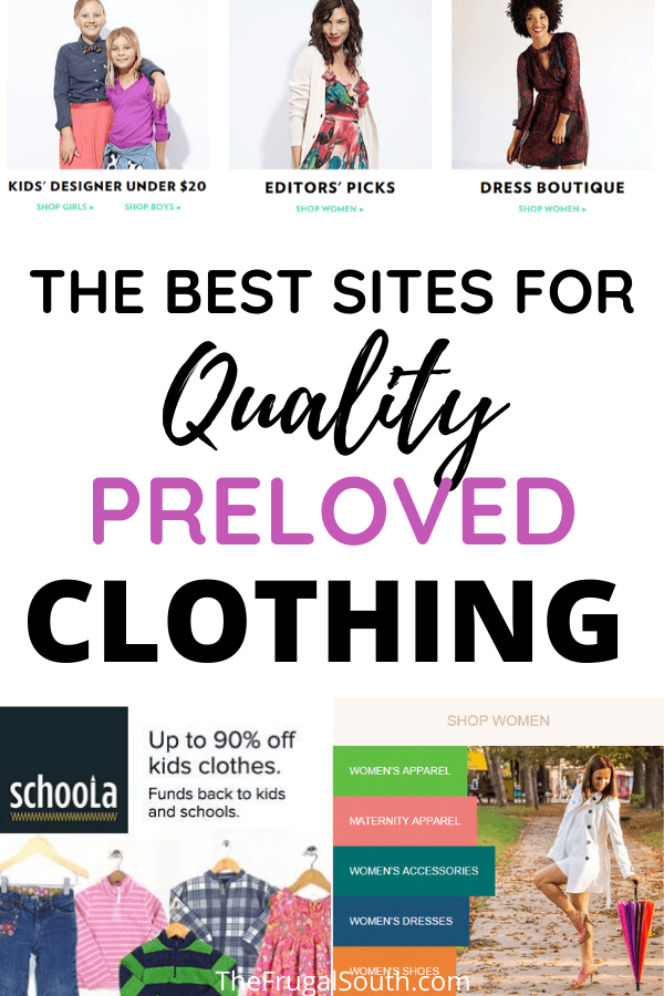 the best sites for quality preloved clothing pinterest image