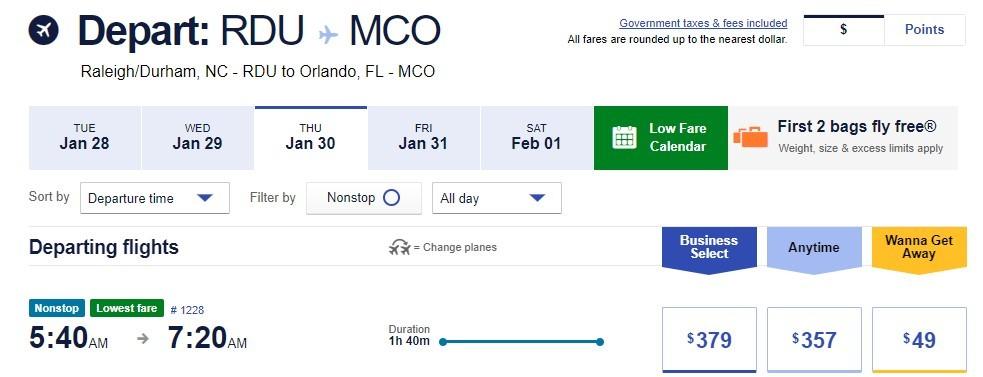 flight options online