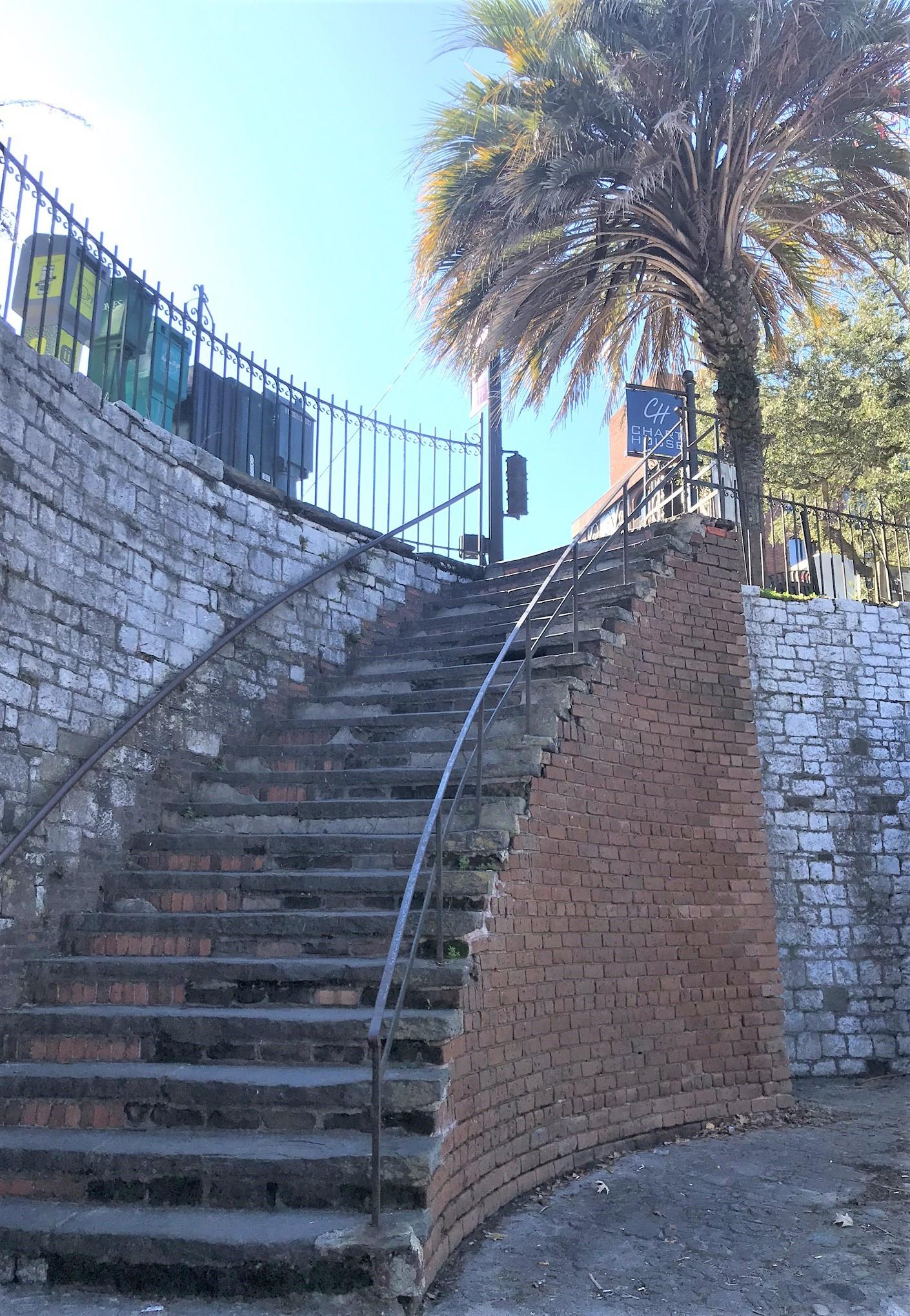 River Street Brick Steps