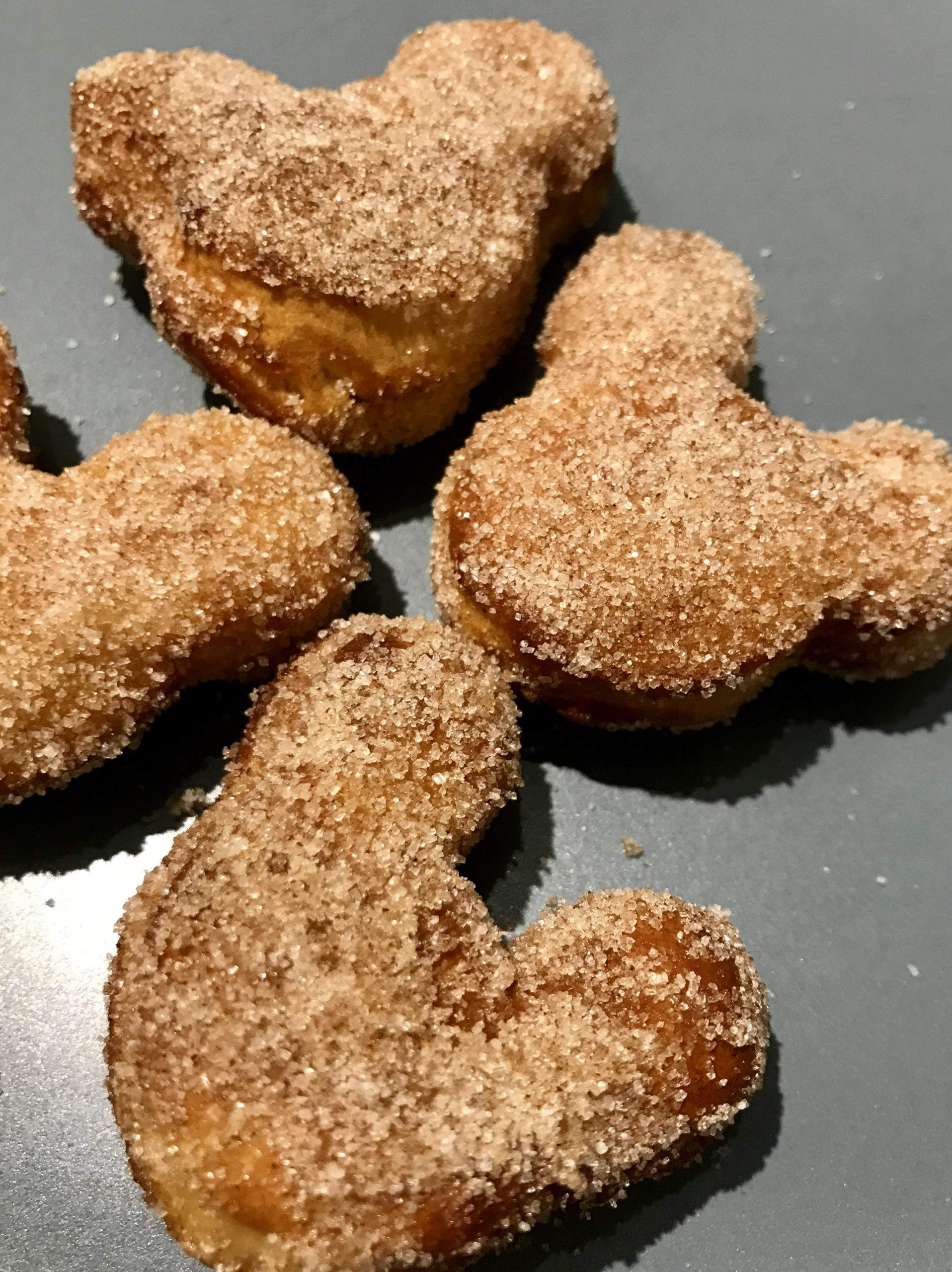 mickey mouse shaped air fryer biscuit donuts