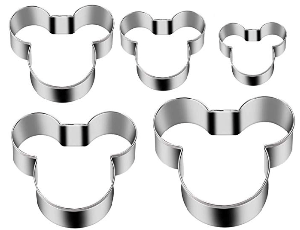 set of five mickey mouse cookie cutters
