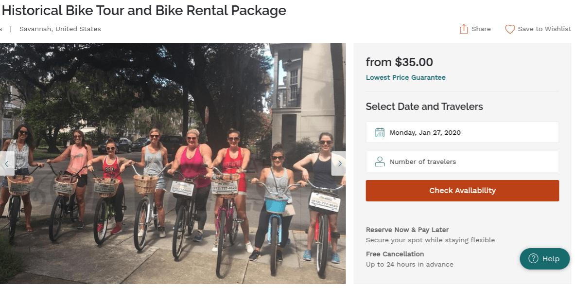 historical bike tour in savannah ga