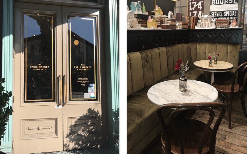 the paris market front doors and cafe tables - things to do in savannah GA with kids