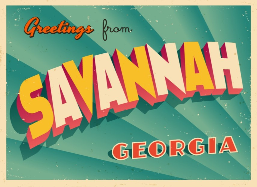 Greetings from Savannah Georgia Postcard