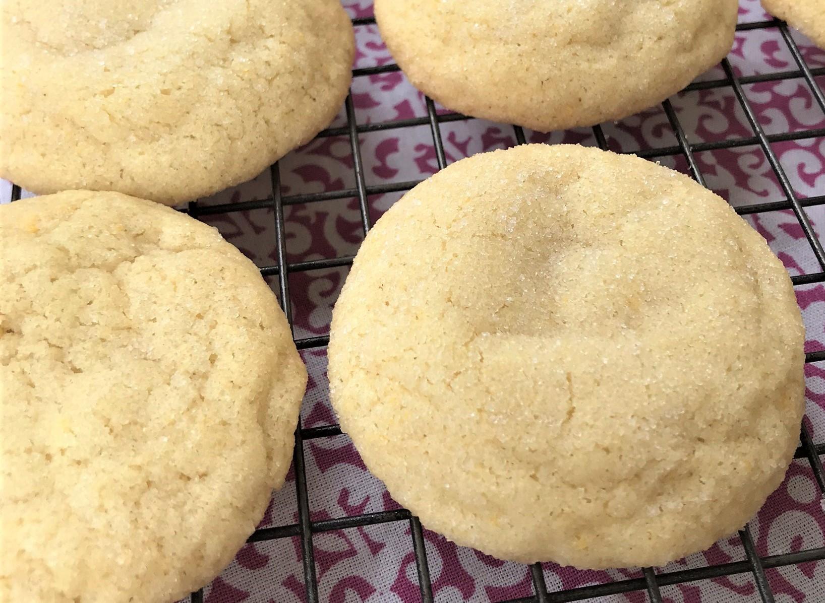 closeup of cookie - the best soft sugar cookie recipe