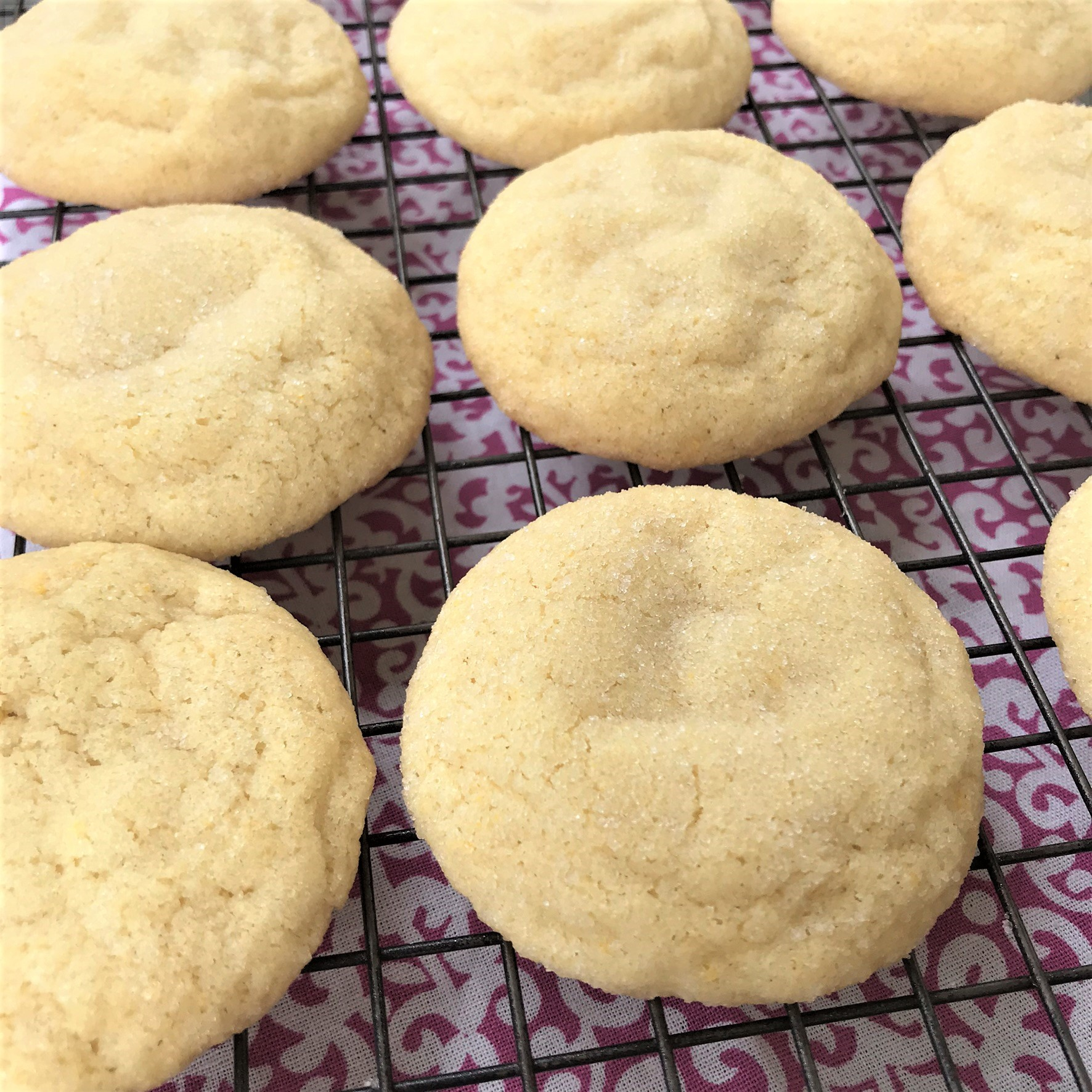soft chewy sugar cookies made with oil instead of butter