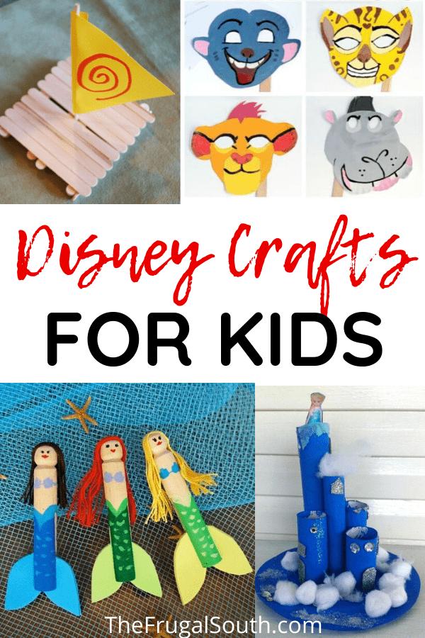 Disney Crafts for Kids Pinterest Image