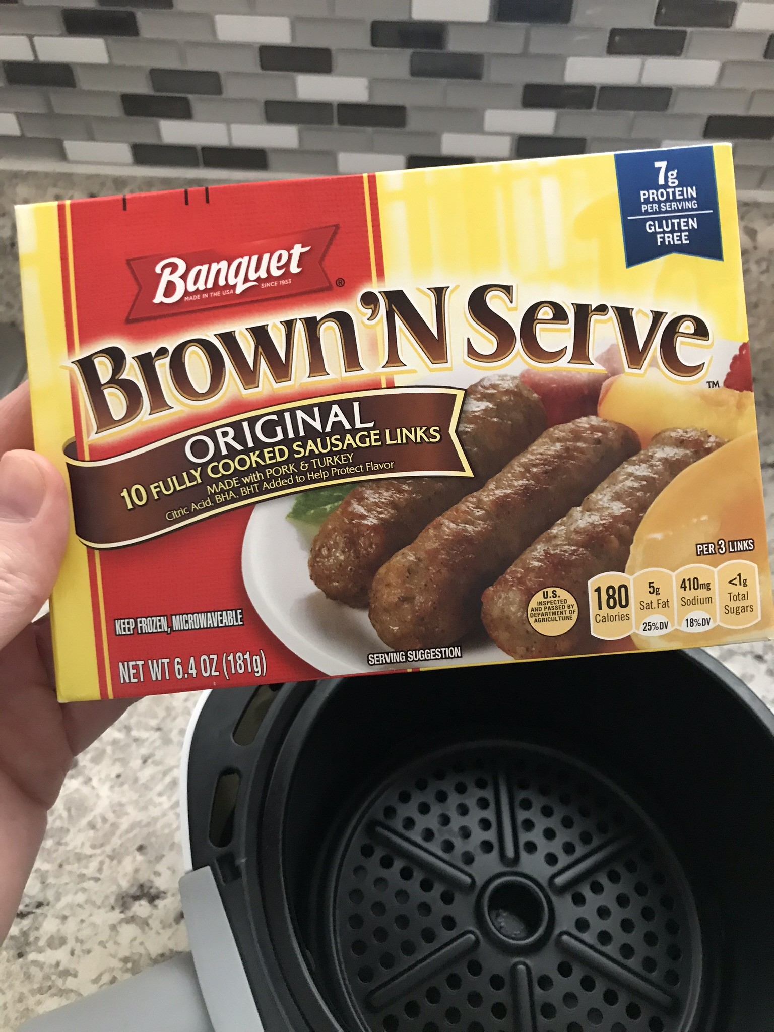 Banquet Brown N Serve sausage