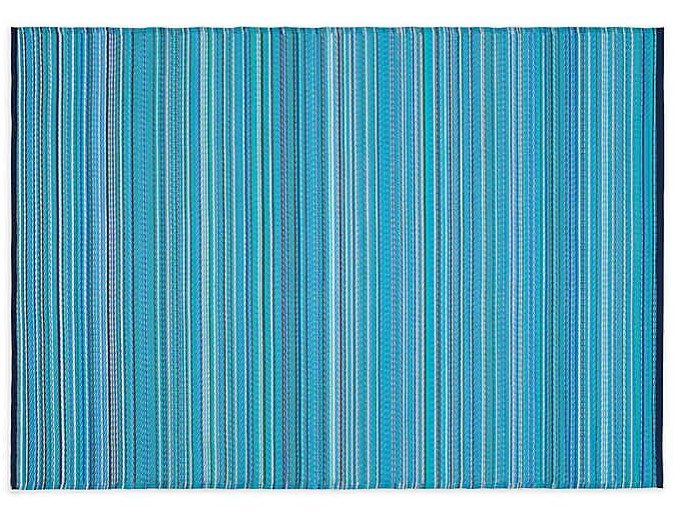 blue indoor/outdoor mat
