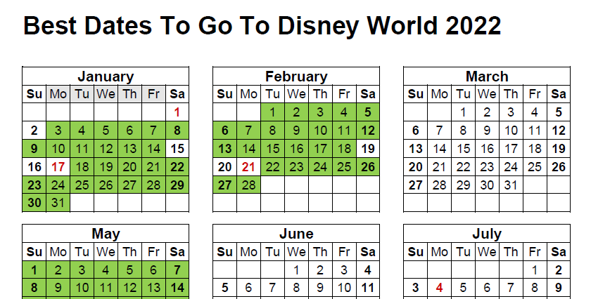best time to go to disney world 2022