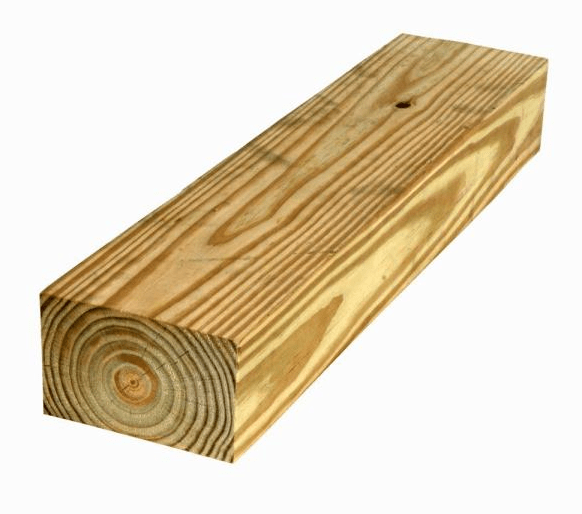 piece of pressure treated lumber