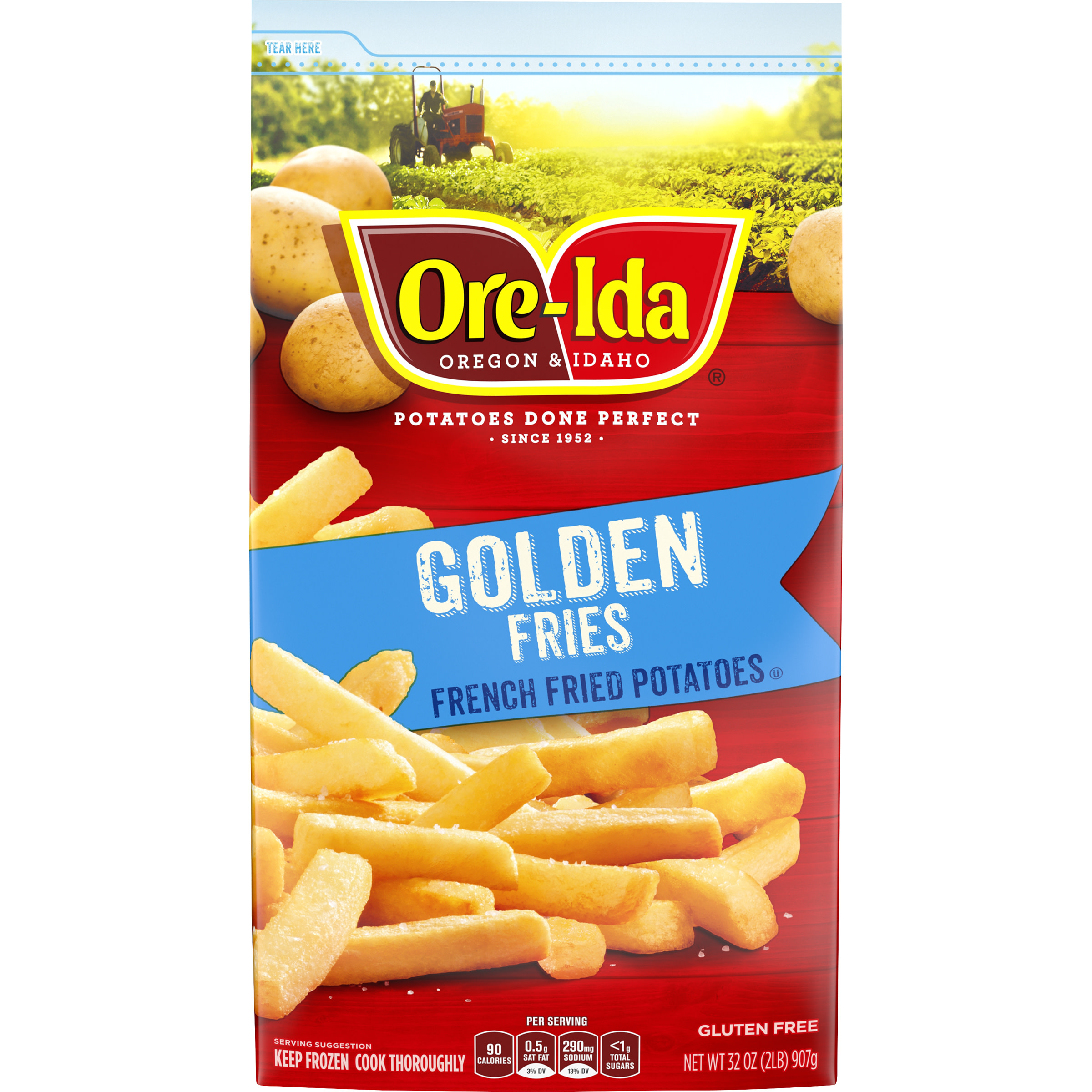bag of frozen ore-ida french fries