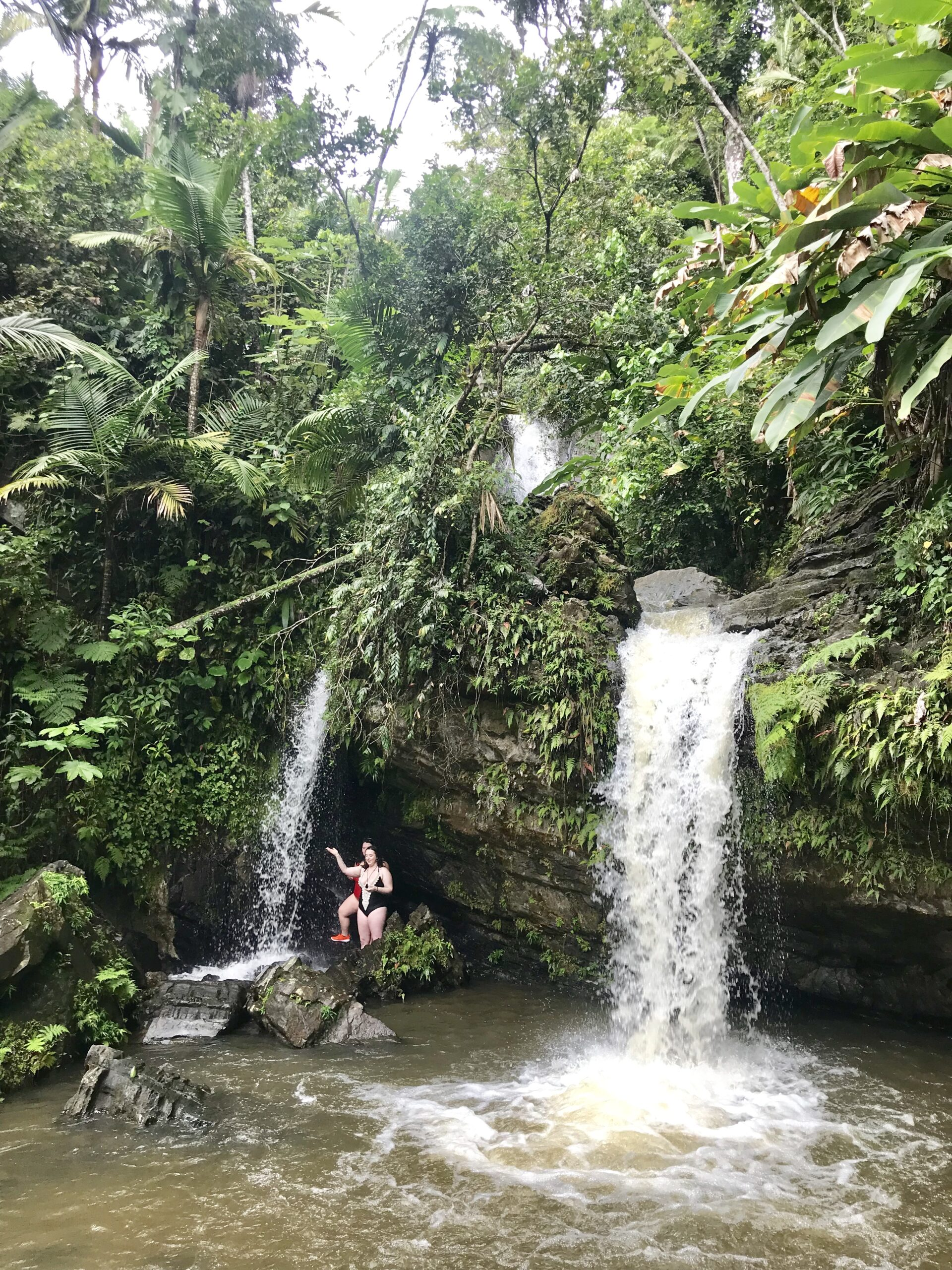 waterfall in el yunque puerto rico