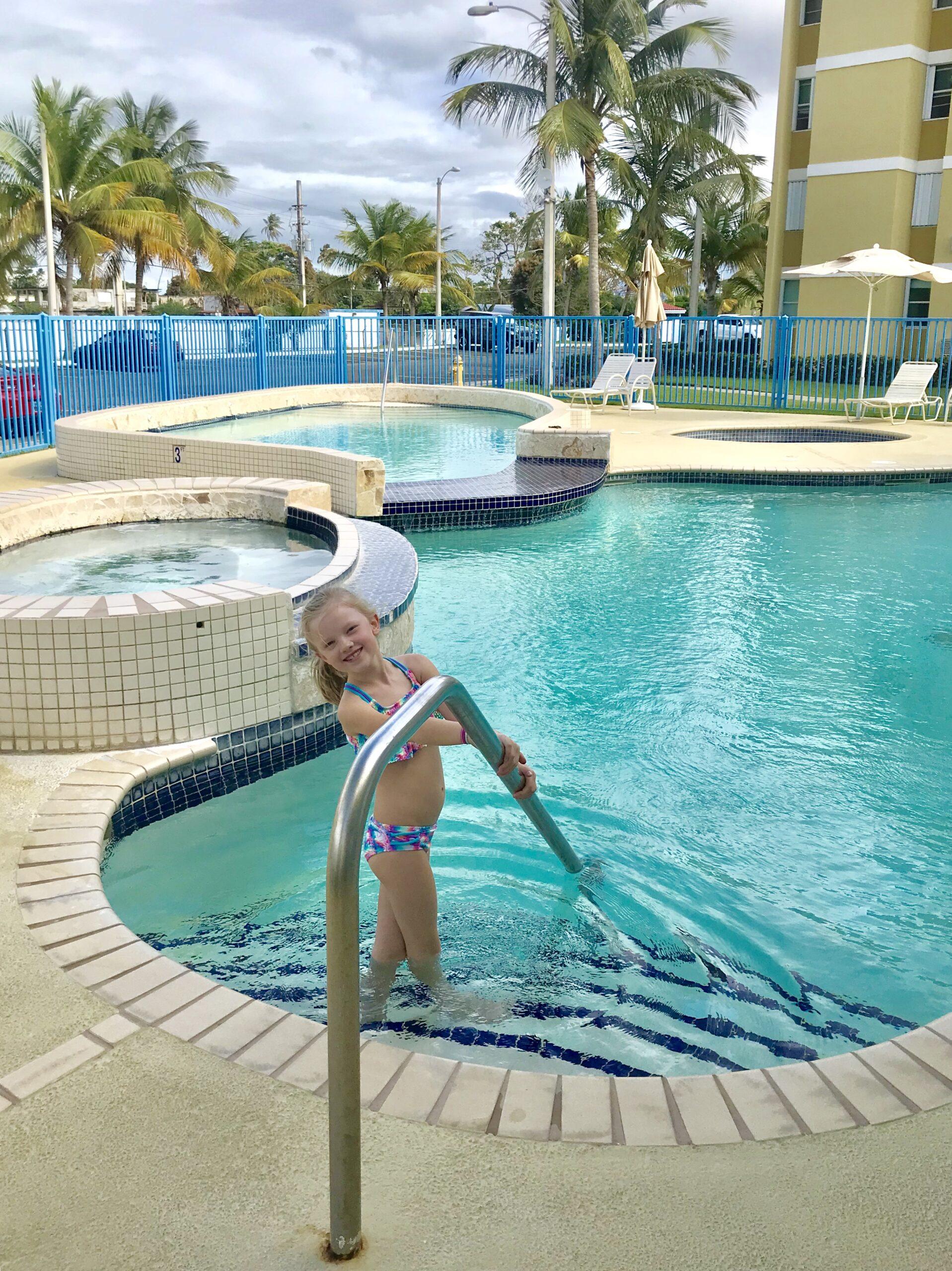 girl in pools