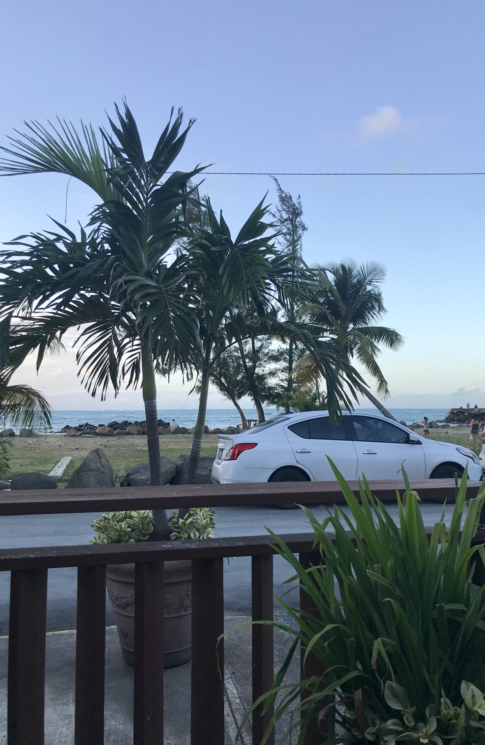 view of ocean from luquillo kiosks