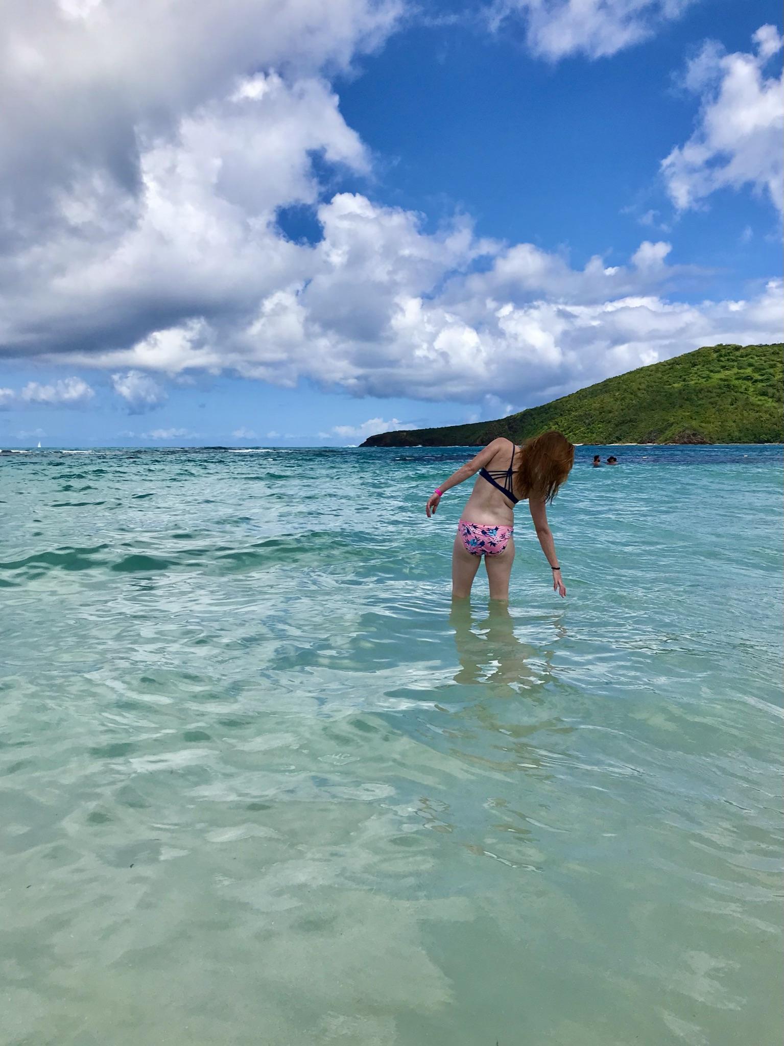 woman in water in culebra puerto rico