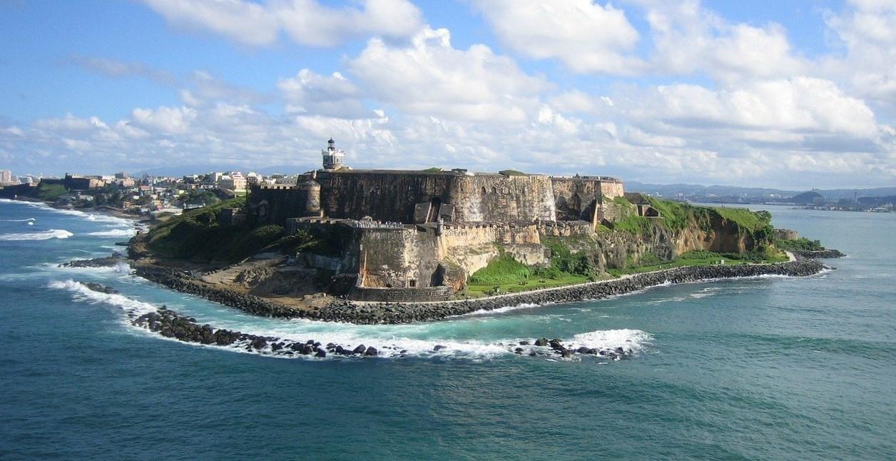 el morro fort in puerto rico from the ocean